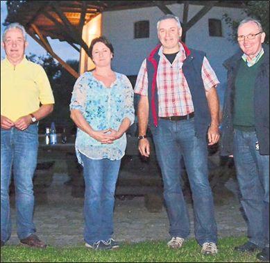 (von links) Friedhelm Ortgies, Bianca Winkelmann, Christian Krüger, Hermann Seeker
