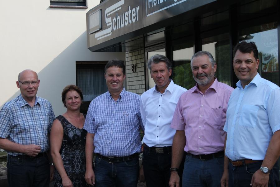 (v.l.)Willi Kopmann, Bianca Winkelmann, Harald Röhling, Dr. Bert Honsel, Christian Krüger, Guido Peitsmeier