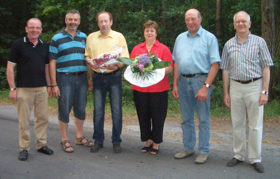 Dieter und Regina Echmann wurden für 25-jährige Mitgliedschaft geehrt